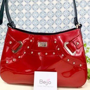 Beijo Iridescent Red Handbag NWOT